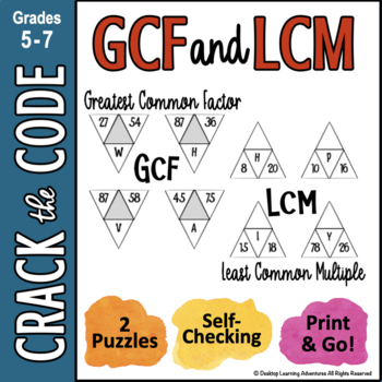 Finding Least Common Multiples & Greatest Common Factors - Crack the Code