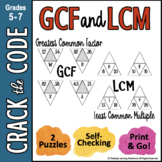 Least Common Multiple & Greatest Common Factor - Crack the Code