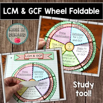LCM & GCF Wheel Foldable
