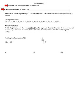 LCM, GCF, and Prime Factorization Review