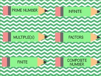 LCM GCF vocabulary match and answer sort.
