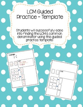 LCM Guided Practice Template