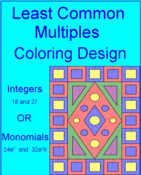 LCM - Integers or Monomials Coloring Activity