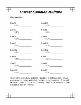 LCM - Least Common Multiple
