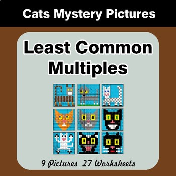 LCM: Least Common Multiple - Cats Mystery Pictures / Color By Number