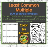 LCM- Least Common Multiple- Color By Answer