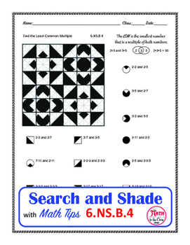 LCM Least Common Multiple Coloring Search and Shade