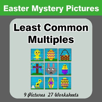 LCM: Least Common Multiple - Easter Mystery Pictures / Color By Number