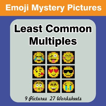 LCM: Least Common Multiple - Emoji Mystery Pictures / Color By Number