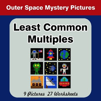 LCM: Least Common Multiple - Outer Space Mystery Pictures / Color By Number