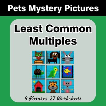 LCM: Least Common Multiple - Pets Mystery Pictures / Color By Number