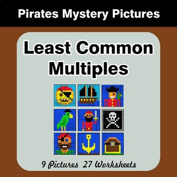 LCM: Least Common Multiple - Pirates Mystery Pictures / Color By Number