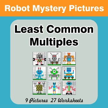 LCM: Least Common Multiple - Robots Mystery Pictures / Color By Number