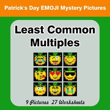 LCM: Least Common Multiple - St. Patrick's Day Mystery Pictures