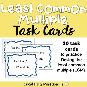LCM (Least Common Multiple) Task Cards