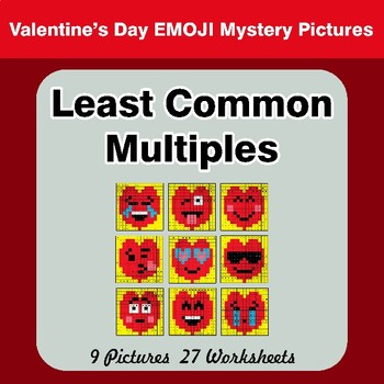 LCM: Least Common Multiple - Valentine's Day Emoji EmMystery Pictures