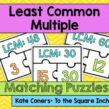 LCM Matching Puzzles
