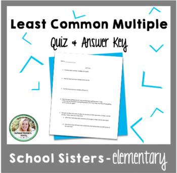LCM Quiz & Answer Key