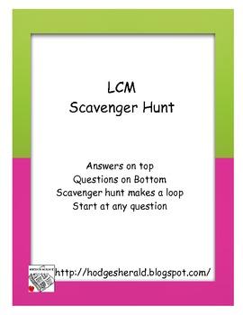 LCM Scavenger Hunt