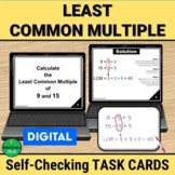 LCM Least Common Multiple Self Checking Task Cards |  DIGITAL