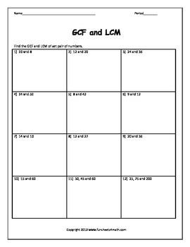 LCM and GCF (Bundle)