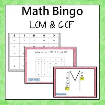 LCM and GCF Bingo