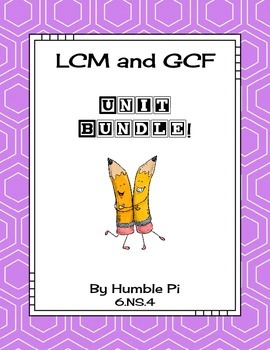LCM and GCF Bundle-6.NS.4