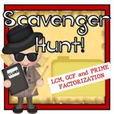 LCM GCF and Prime Factorization Scavenger Hunt
