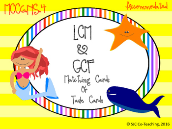 LCM and GCF Task/Matching Cards