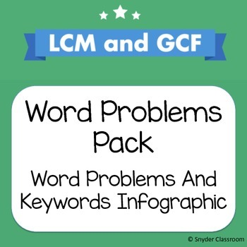 GCF and LCM Foldable - Key Words to Help Solve Word Problems by ...