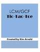 LCM/GCF Tic-Tac-Toe Game (Least Common Multiple & Greatest Common Factor)