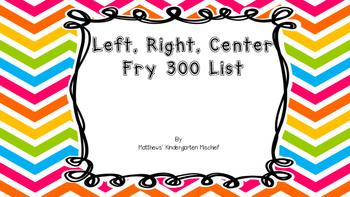 LCR 300 FRY List
