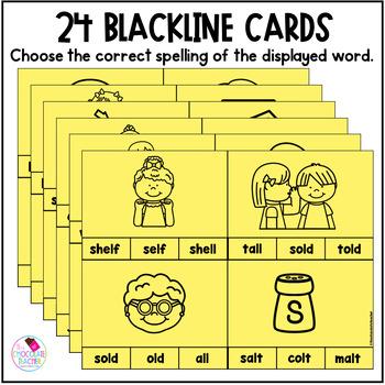 LD, LF, LK, LP, LT Ending Consonant Clip Cards