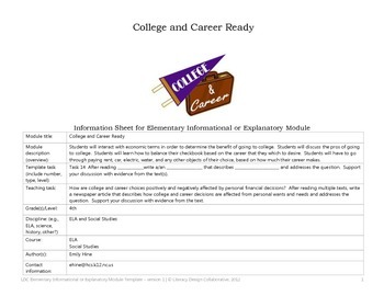 LDC College and Career 4th grade