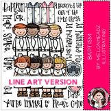 LDS Baptism clip art - LINE ART- by Melonheadz