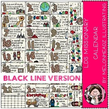 LDS Missionary Calendar by Melonheadz BLACK LINE