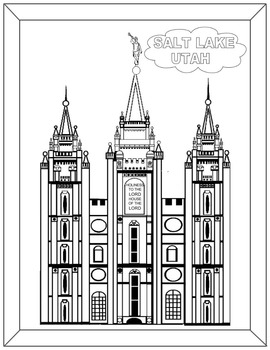 LDS Temple Coloring book Part 1