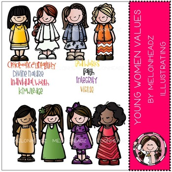 LDS Young Women's values by Melonheadz COMBO PACK