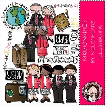 LDS missionaries clip art - Melonheadz clipart