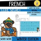 LE CODE SECRET - L'HIVER I French Winter Digital word work