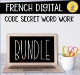 LE CODE SECRET  French Digital Word Work BUNDLE