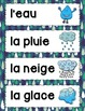LE CYCLE DE L'EAU - FRENCH WATER CYCLE FLIP BOOK ACTIVITY AND VOCABULARY