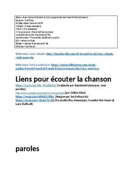 LE FUTUR EN CHANSON: QUAND LES HOMMES VIVRONT D'AMOUR