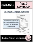 French Passe Compose with ETRE Mini Lesson / Worksheet