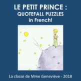 LE PETIT PRINCE - jeux de 'phrases secrètes'