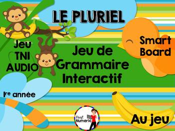 LE PLURIEL - Jeu de grammaire TNI interactif