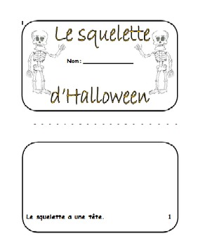 LE SQUELETTE D'HALLOWEEN - Build-A-Book
