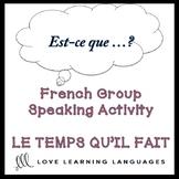 LE TEMPS QU'IL FAIT French Find Someone Who Activity: Est-