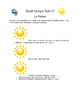 LE Temps: weather report and rubric