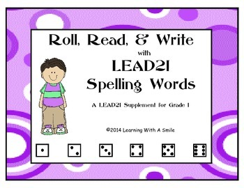 LEAD21 First Grade Spelling Word Game - Roll, Read, and Write